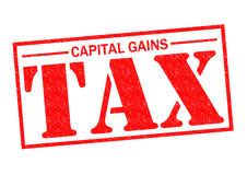 CAPITAL GAINS TAX. Red Rubber Stamp over a white background royalty free illustration