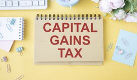 Capital gains tax-text label in the form