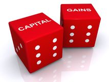 Capital gains stock illustration