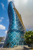 The Capital Gate Tower. ABU DHABI, UAE - NOVEMBER 5: The Capital Gate Tower on the November 5, 2013 in Abu Dhabi, This is certified as the World's Furthest Stock Image