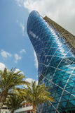 The Capital Gate Tower. ABU DHABI, UAE - NOVEMBER 5: The Capital Gate Tower on the November 5, 2013 in Abu Dhabi, This is certified as the World's Furthest Royalty Free Stock Photography