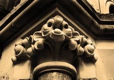 Capital gothique Images stock