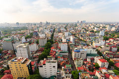 Capital Hanoi cityscape at afternoon Royalty Free Stock Image