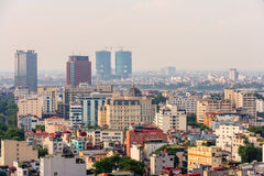 Capital Hanoi cityscape at afternoon Royalty Free Stock Photography