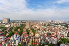 Capital Hanoi cityscape at afternoon Stock Photos