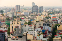 Capital Hanoi cityscape at afternoon Stock Image