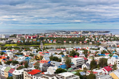 Capital of Iceland, Reykjavik, view Stock Images