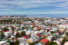 Capital of Iceland, Reykjavik, view Royalty Free Stock Images