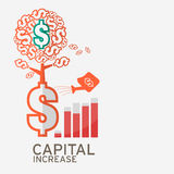 Capital increase icon for website. Royalty Free Stock Images