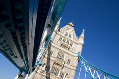 Capital Inglaterra de Londres del puente de la torre Fotografía de archivo