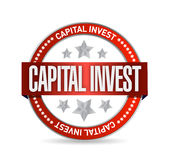 Capital investment seal illustration design. Over a white background Royalty Free Stock Image