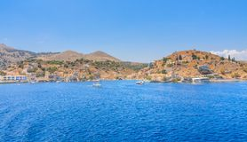 The capital of the island of Symi - Ano Symi Stock Photography