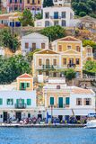 The capital of the island of Symi - Ano Symi. Greece Royalty Free Stock Images
