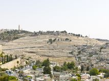 The capital of Israel - Jerusalem. The ancient Jewish cemetery o Royalty Free Stock Photo