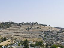 The capital of Israel - Jerusalem. The ancient Jewish cemetery o Stock Image