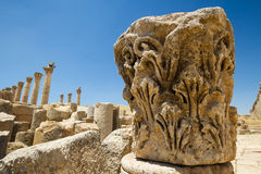 Capital, Jerash Photographie stock