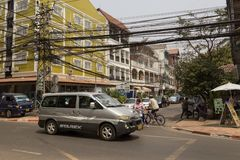 The capital of Laos, Vientiane Royalty Free Stock Images