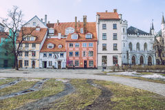 Capital of Latvia, Riga. Old and silent town. 2017 stock photos