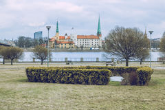 Capital of Latvia, Riga. Old and silent town royalty free stock photo
