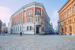 Capital of Latvia, Riga. Old and silent town. 2017 royalty free stock image
