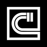 Capital letter C From white stripe enclosed in a square . Overlapping with shadows monogram, logo, emblem. Trendy design vector illustration