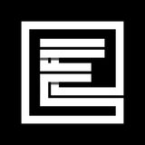 Capital letter E From white stripe enclosed in a square .  Royalty Free Stock Photography