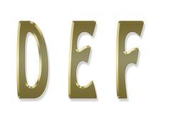 Capital letter gold alphabet Stock Images
