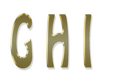 Capital letter gold alphabet Stock Photos