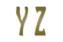 Capital letter gold alphabet Royalty Free Stock Photography