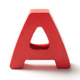 Capital Letter A On White Royalty Free Stock Image