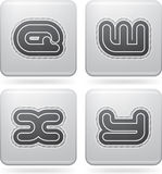 Capital letters. Custom made modern capital letters Stock Photos