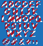 Capital letters of the alphabet Stock Images