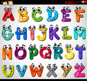 Capital letters alphabet cartoon illustration