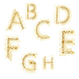 Capital letters alphabet in form pattern of hearts Stock Image