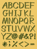 Capital letters of the alphabet Royalty Free Stock Photos