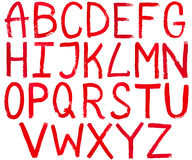 Capital letters hand written by red paint Royalty Free Stock Image