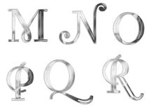 Capital Letters silver 3 royalty free illustration