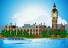 Capital Londres da cidade da skyline do Europa Fotografia de Stock Royalty Free