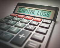 Capital Loss Calculator Royalty Free Stock Images