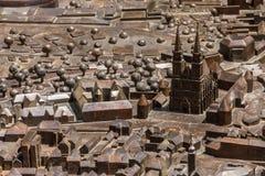 Capital modelo Zagreb de Croacia de la ciudad Imagen de archivo libre de regalías