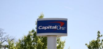 Capital One Bank Sign Stock Image