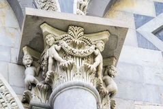Capital of Pisa cathedral column, Italy Royalty Free Stock Photo