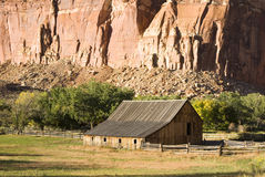 Capital reef. Scenic view of Gifford farm in Capital Reef National Park Royalty Free Stock Photography