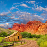 Capital reef barn Stock Photo