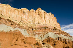 Capital Reef sandstone formations. View of sandstone formations along the scenic drive in Capital Reef National Park Royalty Free Stock Image