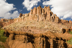 Capital Reef sandstone formations. View of sandstone formations along the scenic drive in Capital Reef National Park Royalty Free Stock Photo