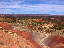 Capital Reef Valley Trail. The Burr Trail takes the traveler into some of Utah`s most beautiful and extraordinary country.  Drive through Glen Canyon National Stock Photo