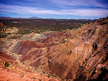 Capital Reef Valley Trail Waterpocket. The Burr Trail takes the traveler into some of Utah`s most beautiful and extraordinary country.  Drive through Glen Canyon Stock Image