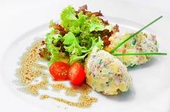 Capital salad. Traditional Russian salad royalty free stock image
