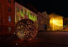 Capital of Slovenia, Ljubljana, in night Stock Photo